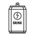 energy drink tin can icon outline style vector image vector image