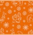 ethnic orange decorative folk ornament vector image vector image