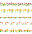 flowers frame isolated on white background vector image