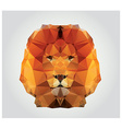 geometric polygon lion head triangle pattern vector image vector image