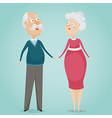 happy grandparents holding hands vector image
