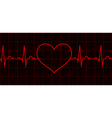 Heart beat Cardiogram Cardiac cycle vector image
