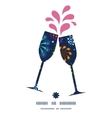 holiday fireworks toasting wine glasses vector image vector image