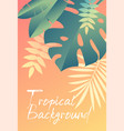 hot tropical background with green leaves vector image