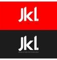letter J K L logo paper set background vector image