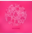 Line Wedding Icons Circle Concept vector image vector image