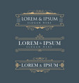 luxury crown frame logos calligraphy flourishes vector image vector image