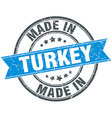 made in Turkey blue round vintage stamp vector image vector image