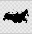 map russia isolated black on vector image