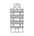 medical center building emergency first health vector image vector image