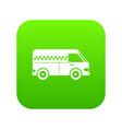 minibus taxi icon digital green vector image vector image