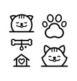 pets hotel icon set vector image