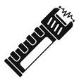 police electric shocker icon simple style vector image vector image