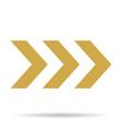 popular abstract zig zag gold chevron stack vector image vector image