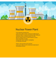 Poster Nuclear Power Plant vector image vector image