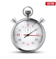 Realistic shine analog stop watch vector image