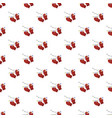 red winter gloves pattern seamless vector image