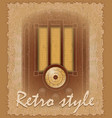 retro style poster old radio vector image vector image