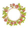 rose branch frame vector image