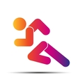 Running people simple symbol of run isolated on a vector image vector image