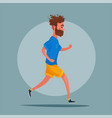 running sporty character vector image vector image