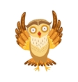 Scared Owl Cute Cartoon Character Emoji With vector image vector image