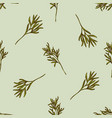 seamless pattern with hand drawn colored rosemary vector image vector image