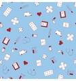 seamless texture with cute flat medical vector image vector image