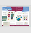 senior people traveling - colorful brochure vector image