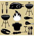 Set icons barbecue grill vector image