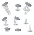 set of cartoon nails vector image vector image