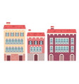 set of houses venice vector image vector image