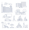 set of various city design elements vector image vector image