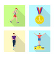 sport and winner symbol vector image