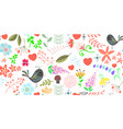 spring floral seamless pattern background 400x200 vector image