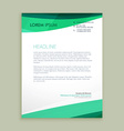 stylish wave letterhead design vector image vector image