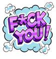 swear word sign comic book pop art vector image