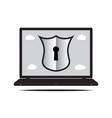 technology digital cyber security keyhole shield vector image vector image