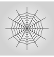 The spiderweb icon Web symbol Flat vector image
