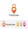 travel map logo vector image vector image