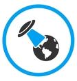 Ufo Explores Earth Icon vector image vector image