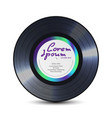 Vinyl record retro sound carrier rerto template