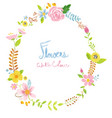 watercolour wreath floral elements vector image