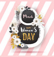 womens day poster with full blossom flowers vector image