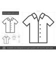 short-sleeve shirt line icon vector image