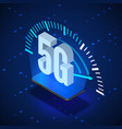 5g wireless network systems mobile internet vector image vector image