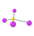 abstract molecule icon flat style vector image