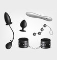 accessories for sex games realistic set vector image vector image