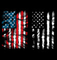 american flag chest vector image vector image