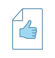 approval document color icon vector image